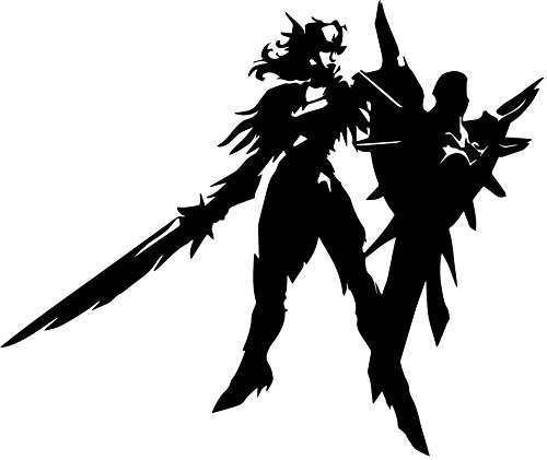 - UR Impressions Blk Leona Iron Solari League of Legends Inspired Decal Vinyl Sticker Graphics for Cars Trucks SUV Vans Walls Windows Laptop|Black|5.5 X 5 inch|URI168