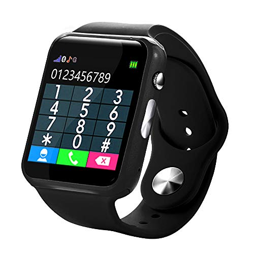 KUNAW Kids Smart Watch- 2019 Upgrade Real GPS Tracker Waterproof WiFi Smart Watch Phone for Boys Girls with Fitness Tracker Pedometer Camera Alarm Clock for Kids Birthday Gifts (Best Gps For Italy 2019)
