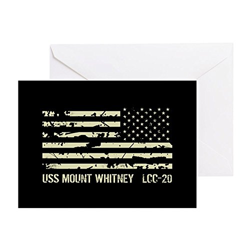 (CafePress USS Mount Whitney Greeting Card, Note Card, Birthday Card, Blank Inside Glossy )