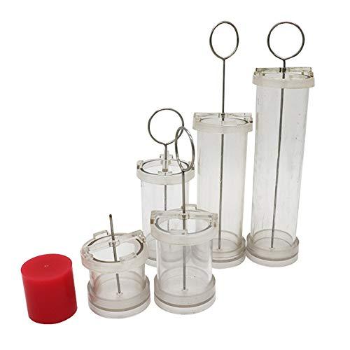WISREMT Stampo cilindrico per candele Stampo per candele fatto a mano fai-da-te Materiale grezzo Stampo per cera per fabbricazione di candele, 4 Specifiche