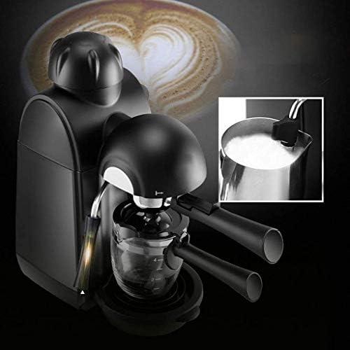 Espresso Machine 5bar Espresso Koffiezetapparaat espresso en cappuccino machine met melkopschuimer Espresso Maker met Steamer Black HUERDAIIT