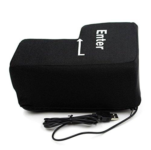 ODS Black Enter Key Pillow Stress Relief Toys USB Big Enter Button for Birthday Gift (Enter Key)