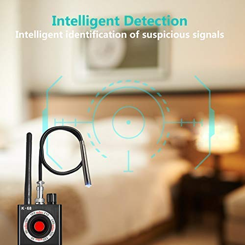 Anti Spy Detector & Hidden Camera Detectors, 2020 Upgrade K68 Tracking Device Finder & RF Signal Detector, Cell Phone and WiFi Detector with Wireless