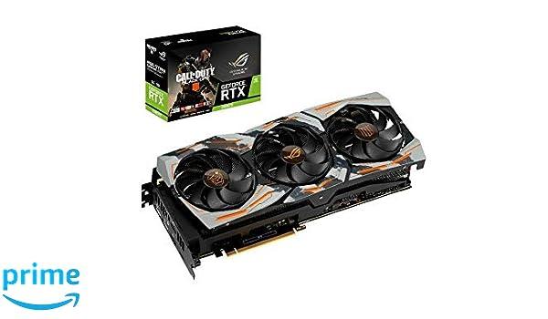ASUS COD-BO4-ROG-STRIX-RTX2080TI GeForce RTX 2080 Ti 11 GB ...