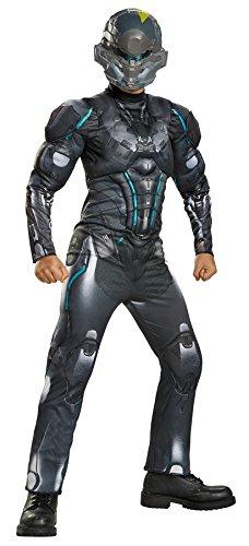 UHC Boy's Spartan Locke Muscle Halo Military Soldier Child Halloween Costume, Child L (10-12)