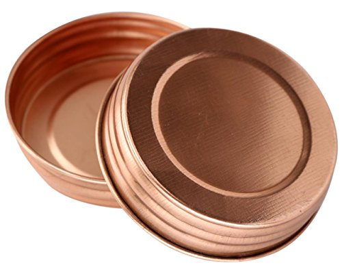 Shiny Copper Roof - Shiny Copper Decorative Mason Jar Lids (4 Pack, Wide Mouth)