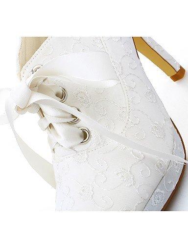 Heels 4in ShangYi Elfenbein High Kleid Damen Absätze Hochzeitsschuhe Schuh Hochzeit Plateau qyg1qBAr