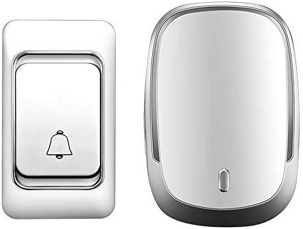 スマートワイヤレス防水ドアベル、1バッテリーボタン1 2レシーバーUS EU UKプラグスマートホームコードレスドアベルチャイム