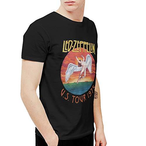 Douglas-A Mens Fashion Led Zeppelin U.s. Tour 1975 Rock Tee Washed Denim Hat Casquette XXL Black ()