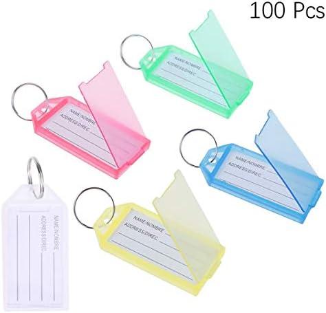 Toyvian Schlüsselanhänger mit Etiketten, Schlüsselanhängern, Gepäck, Etiketten, 100 Stück