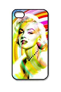 Customizablestyle Marilyn Monroe iPhone4/4S Case Hard Shell(pc Material)