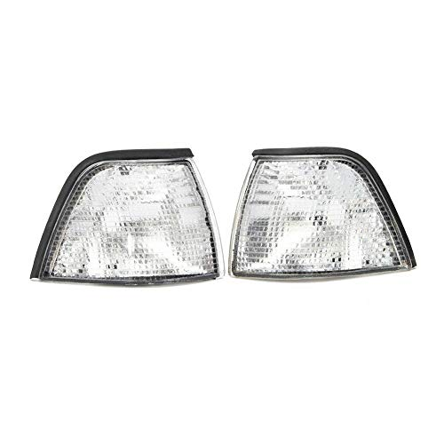 FidgetKute One Pair Clear Corner Lights for 92-98 BMW E36 3-Series 4DR Coupe/Convertible