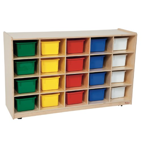 Wood Designs Kids Play Toy Book Plywood Organizer Wd1450320 Tray Storage With Assorted Trays