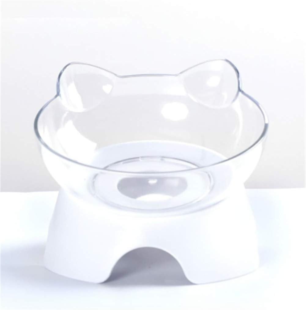 N-A Recipiente ortopédico para Mascotas Anti-vómitos, recipientes Desmontables para Gatos con Soporte Elevado, para Mascotas (Tazón Individual)