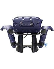 AMVR VR Stand,VR Headset Display Holder for HTC Vive Headset or HTC Vive Pro Headset and Controllers