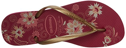 Slip Strap Slim Raspberry Women's Thong On Havaianas Sandals Rose Organic qwCtnTTp