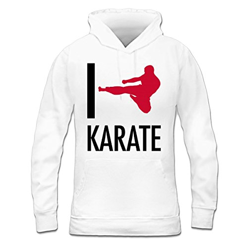 Sudadera con capucha de mujer I Love Karate by Shirtcity Blanco