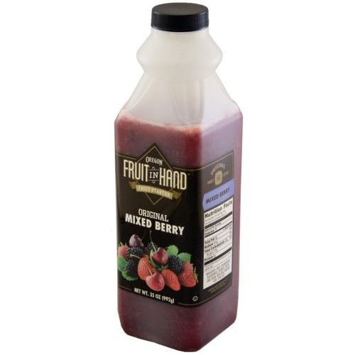 Fruit In Hand Mixed Berry Pourable Fruit Puree, 35 Ounce - 6 per case.