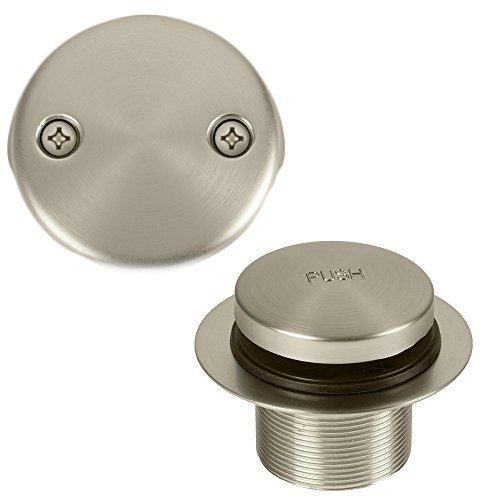 Bennington Toe Touch Bathtub Tub Drain Overflow Conversion Kit, Satin Nickel
