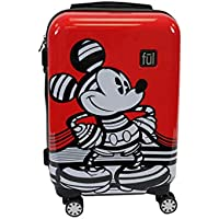 FUL Disney Striped Mickey Mouse 21in Hard Sided Luggage