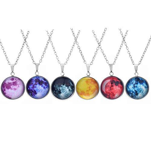 Pendants Luminous Lanyard Necklace Glow in the Dark Necklaces Fluorescent Necklace 6 pcs