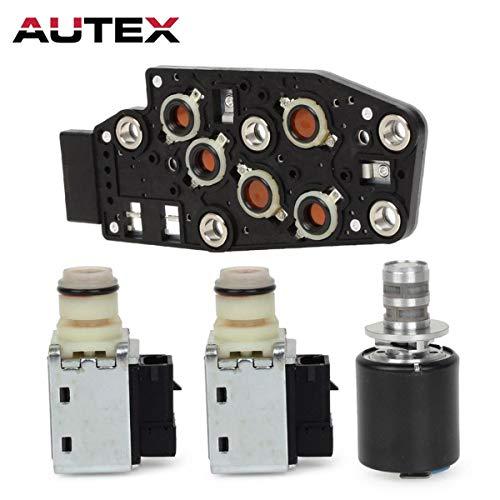 AUTEX 2Pcs Shift Solenoid & 1Pcs EPC Solenoid + 1Pcs Manifold Pressure Switch Solenoid Compatible with GMC Envoy XL,Safari Savana 1500,Jimmy/Oldsmobile Bravada/Chevrolet Tahoe,S10/Pontiac Firebird