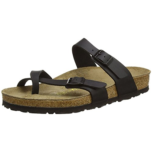 (Birkenstock Womens Mayari Holiday Birko-Flor Beach Summer Flat Sandals - Black -)