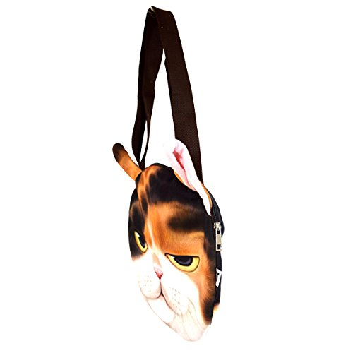 Bag Face Cat Shoulder Fashion Cute Shopping Pussy Tote AiSi Cat White Black Handbags Women tw0qX
