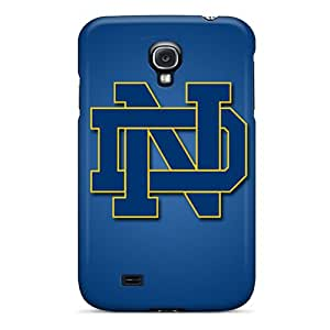 Anti-Scratch Cell-phone Hard Covers For Samsung Galaxy S4 (GLp10648hrDw) Custom Colorful Notre Dame Fighting Irish Pattern