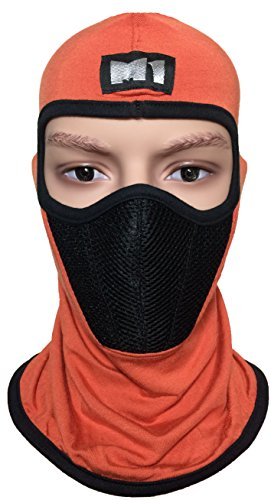 M1 Full Face Cover Balaclava Protecting Filter Face Mask Orange (Scorpion Face Mask)