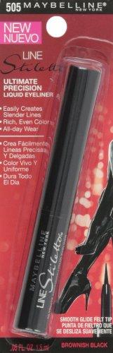 Maybelline New York Line Stiletto Ultimate Precision Liquid Eyeliner, Brownish Black 505, 0.05 Fluid Ounce