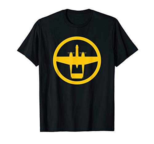 P-61 Black Widow (Yellow) World War II Airplane T-Shirt, used for sale  Delivered anywhere in USA