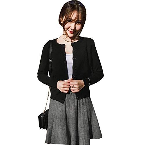 SHENGAOレディース カーディガン ニット 丸首 修身 春秋 レディース ニット ジャケット