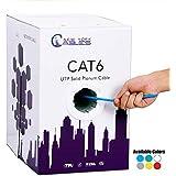 Cat6 Quality Plenum 1000ft UTP Solid Bulk 550MHz Ethernet Network Cable Blue