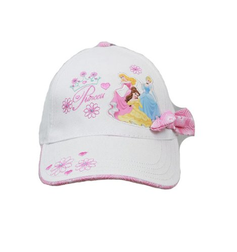 Baseball Cap - Disney - Princess- Pink Bow - White (Youth/Kids) New Hat ps418-2 Berhsire Fashion