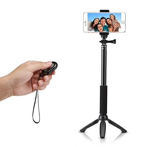 accmor rhythm pro bluetooth selfie stick gopro monopod with tripod stand for iphone 6 plus 6 5s. Black Bedroom Furniture Sets. Home Design Ideas