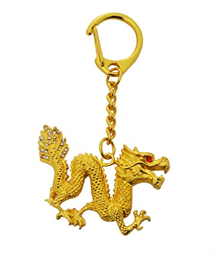 (Feng Shui Bejeweled Dragon Keychain W Fengshuisale Red String Bracelet W2383 )
