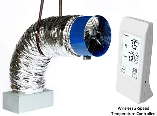 QA-Deluxe 5500(R2T) Whole House Fan | Includes 2-Speed Wireless Remote