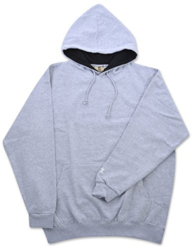 Russell Athletic Men's Big & Tall Fleece Pull-Over Hoodie (X-Large Tall, Heather Grey/Black)