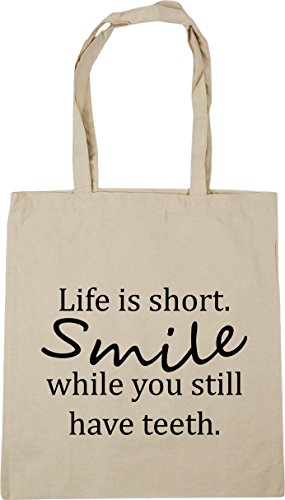 is Gym Life Bag litres still Tote teeth Beach HippoWarehouse you short Shopping 10 42cm while Natural have x38cm Smile A5WTWdPqnw