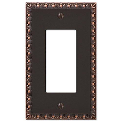 Dart Plate (Single 1-Gang Rocker Decorator GFI Egg & Dart Switch Plate Wall Plate Cover, Oil Rubbed Bronze)