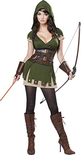 California Costumes Women's Lady Robin Hood, Olive/Brown, X-Large ()