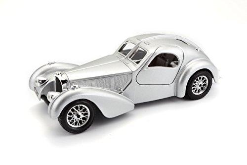 Bburago Bugatti Atlantic Diecast Model Car (1:24 Scale), Silver (1 18 Diecast Car Bugatti)