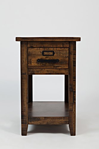 """Jofran: 1510-7, Cannon Valley, Chairside Table, 16""""W X 24""""D X 25""""H, Cannon Valley Finish, (Set of 1) from Jofran"""