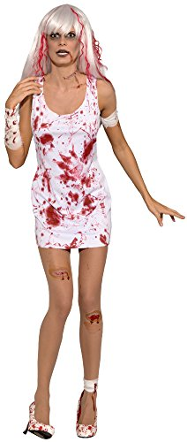 [Forum Novelties Women's Blood Boutique Bloody Dress, White/Red, One Size] (Carrie White Halloween Costume)