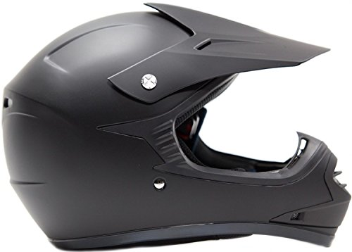 Youth Kids Offroad Helmet DOT Motocross ATV Dirt Bike MX Motorcycle Matte Black L Large