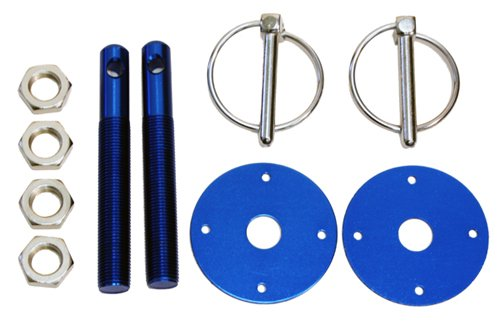 - CFR Performance Compatible/Replacement for Chevy/Ford/Mopar Aluminum Hood PIN KIT FLIP-Over Style - Blue