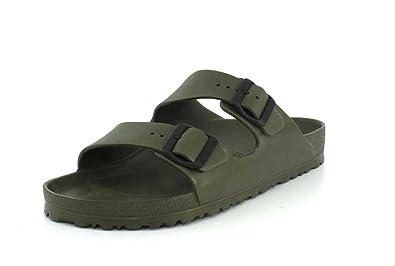 33a6e54d3f9ee Birkenstock Unisex Arizona Essentials EVA Khaki Sandals - 44 M EU