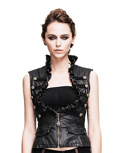 Steampunk Gothic Punk Clothing Pirate Renaissance Costume Cyberpunk Vest Jackets (XL) (Cosplay Steampunk Costumes)