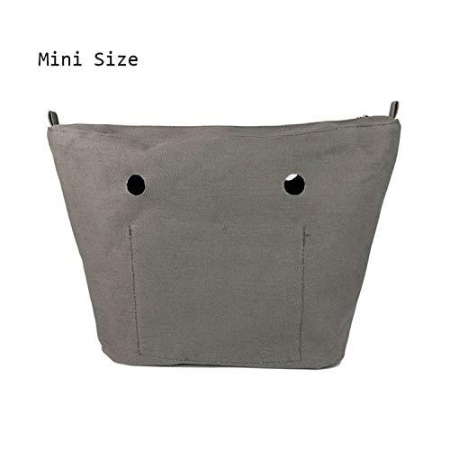 Pocket À Taille Imperméable Sac Sunonip Pour Accessoires Mini Deep Insert Grey Main Solide Femmes Doublure Bag O Petite Inserts De Obag pqW1Oagf